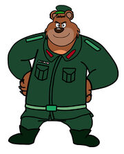Dog a tat the rat a tat Dawa Thapaliya kairy commander soldier bear man by billiman