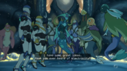 Lance, Plaxum, Swirn, Blumfump, Queen Luxia and Hunk