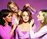 The Plastics doing Cady's makeup