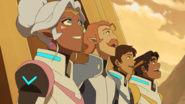 Lance, Hunk, Coran and Allura