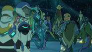 Lance, Plaxum, Swirn, Blumfump, Luxia and Hunk (After the Victory)