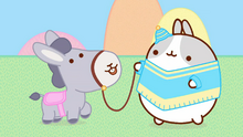 Donkey's First Appereance with a friend of Molang