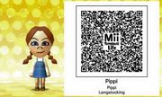 Pippi Longstocking Mii Tomodachi Life QR