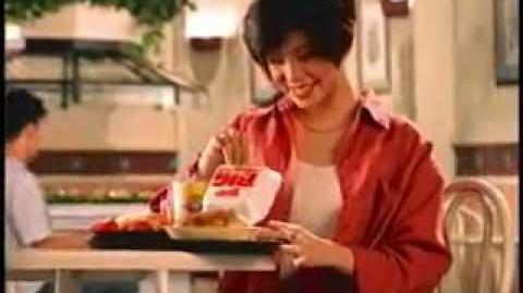Wendy's Hamburger 1994 TV ad featuring Regine Velasquez