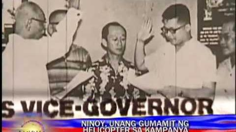Ninoy first to use chopper for poll campaign