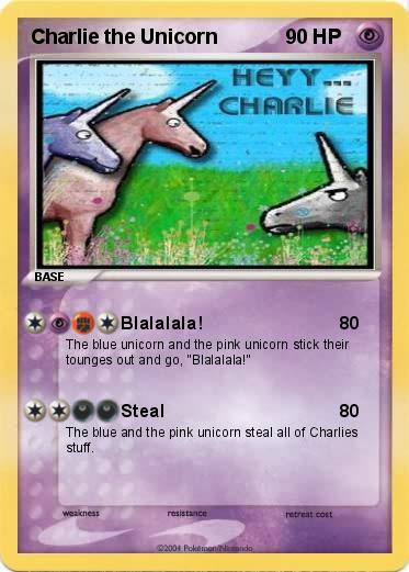 Charlie The Unicorn Pokemon Cards Charlie The Unicorn Wiki