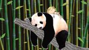 Lola and a Panda sleeping