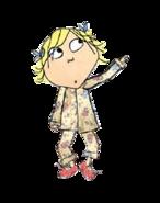 Lola wearing pajamas