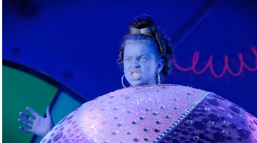 Violet Beauregarde Charlie And The Chocolate Factory Musical Image - Violet-blueber...