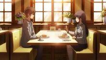 Yumi und Yū essen Pfannkuchen
