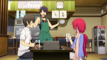Yu et Sala mangent
