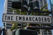 Embarcadero streetsign