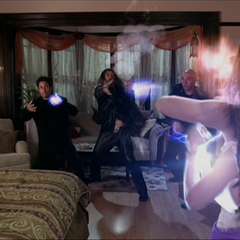 Piper blows up another Energy Ball and the Demons create new ones.