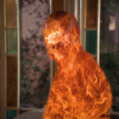 Paul Haas flaming out of the conservatory.