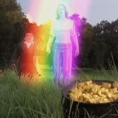 Seamus Rainbow Teleporting in with Paige.