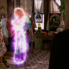 Penny Halliwell is adjusting her aura.