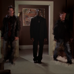 Two Demons shimmering in in Victor's apartment.