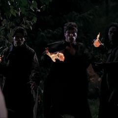 Three more Demons throwing fireballs.