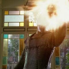 The Swarm Demon throws a fireball.