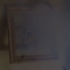 A painting being blown up by Piper.