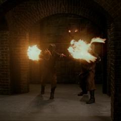 The Swarm Demons throw more fireballs.