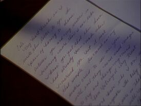 Phoebe's goodbye letter to Cole