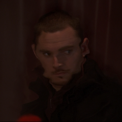 Elkin shimmering out of the cinema.