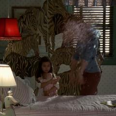 Lynn reconstitutes in Bianca's room.