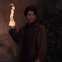 A Demon creates another fireball.