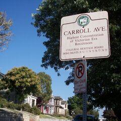 Entrance to 1300 block of Carroll Avenue