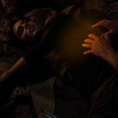 Leo heals Chris.