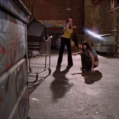 Paige deviates Sid's Darklighter Arrow.