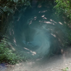 Phoebe, Paige, Leo and Darryl escape through a Portal, followed by three Warriors.