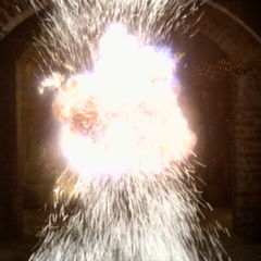 Piper blows up a Swarm Demon.