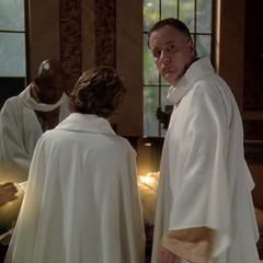 The Elders combining their Healing powers to heal Danny.