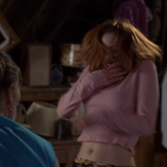 Barbas makes Phoebe see Paige as him, causing her to attack Paige.