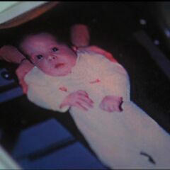 Piper as a baby (As seen in her baby book)
