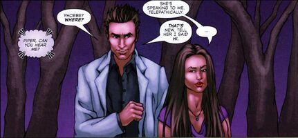 Cole and Piper in the comic