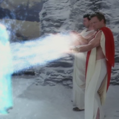 Demetrius and Cronus absorbing the Whitelighters' powers.
