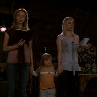 Christy and Billie casting the Summoning Spell with Wyatt.