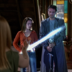 Paige tries to orb Excalibur to herself.