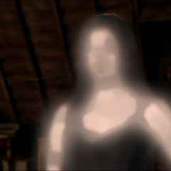 Patra shapeshifts back into herself.
