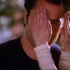 Phoebe covers Coop's eyes