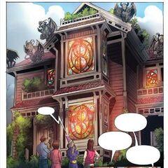 Nowy, magiczny wygląd domu w komiksie.