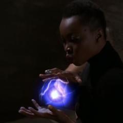 Jayda creating an energy ball.