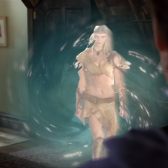 Mist entering the Manor through a Portal.