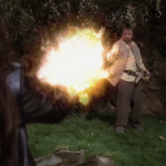 Piper blows up Tull's stream of fire.