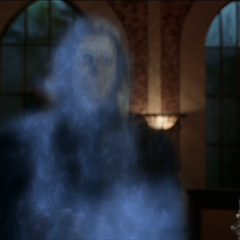 The Angel of Death dark wisping in in Magic School.