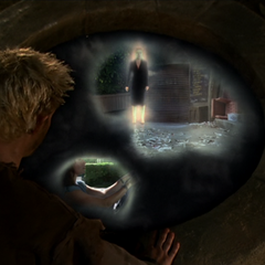Chris uses Telekinesis to unite Paige's and Phoebe's realities in Gith's water pit.