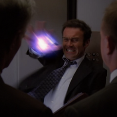 In Barbas' Illusion, Cole throws an energy ball to kill the men in the elevator.